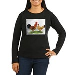 Buff Catalana Chickens2 Women's Long Sleeve Dark T