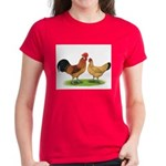 Buff Catalana Chickens2 Women's Dark T-Shirt
