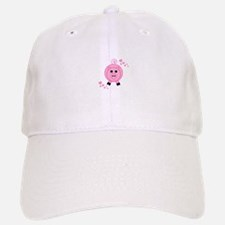 Pink Pig With Hearts Baseball Baseball Baseball Cap