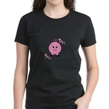 Pink Pig With Hearts T-Shirt