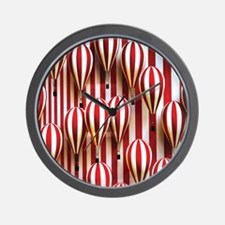 Unique Red abstract art Wall Clock