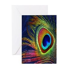 Peacock Feather Greeting Cards