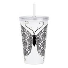 Damask Butterfly.png Acrylic Double-wall Tumbler