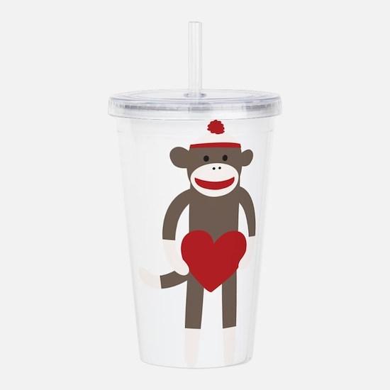 Valentine Monkey Acrylic Double-wall Tumbler