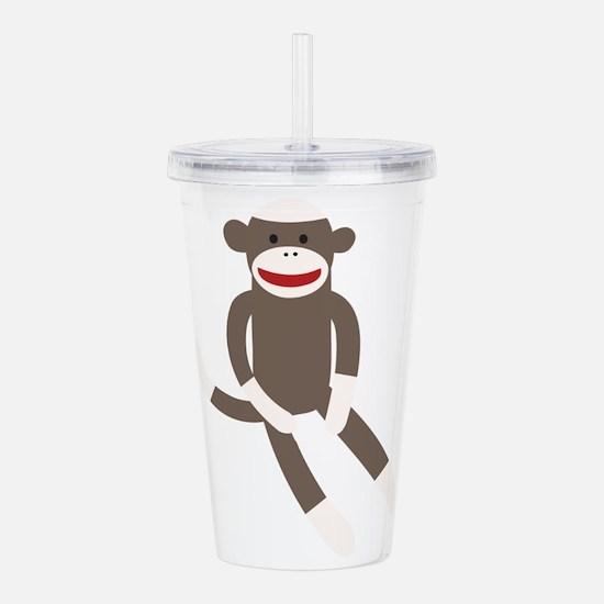 Sock Monkey Acrylic Double-wall Tumbler