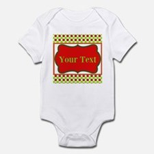 Personalizable Red and Green Polka Dots Body Suit
