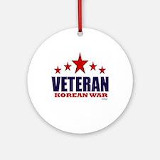 Veteran Korean War Ornament (Round)
