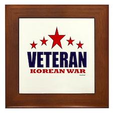Veteran Korean War Framed Tile