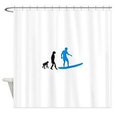 Surfing Evolution Shower Curtain