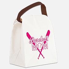 Cute Baseball mom Canvas Lunch Bag