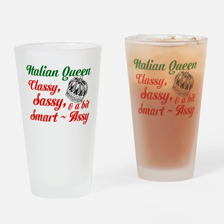 Italian Queen Drinking Glass
