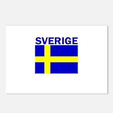 Sverige Flag Postcards (Package of 8)