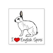 """Unique Rabbit Square Sticker 3"""" x 3"""""""