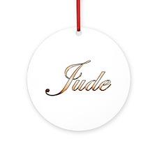 Gold Jude Round Ornament