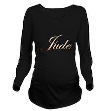 Gold Jude Long Sleeve Maternity T-Shirt