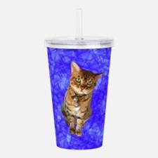 Almost Real Bengal Cat Acrylic Double-wall Tumbler