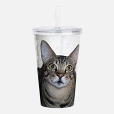 Savanna Cat Portrait Acrylic Double-wall Tumbler