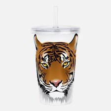 Cute Tiger print Acrylic Double-wall Tumbler