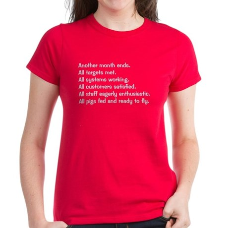 All Targets Met Women's Dark T-Shirt