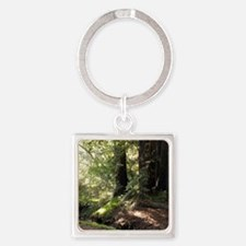 Forest Square Keychain