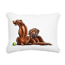 2 Ridgebacks Rectangular Canvas Pillow