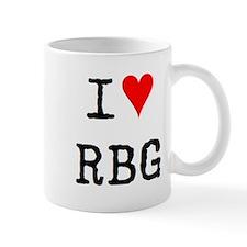 i love rbg Small Mug