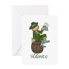 Slainte Laprechaun Greeting Cards