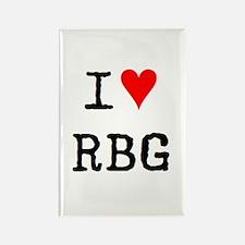 i love rbg Rectangle Magnet