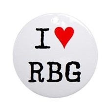i love rbg Ornament (Round)