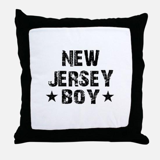 New Jersey Boy Throw Pillow