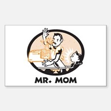 Mr. Mom gifts for dad Rectangle Decal