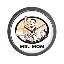 Mr. Mom gifts for dad Wall Clock
