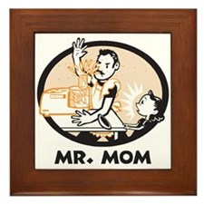 Mr. Mom gifts for dad Framed Tile