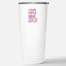 Cute Run like girl Travel Mug