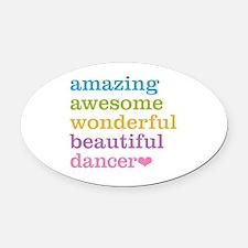 Cute Jazz dancing Oval Car Magnet