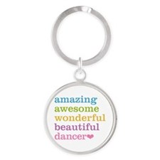 Funny Salsa dancing Round Keychain