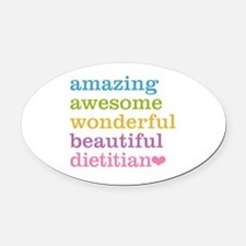 Cute Nutritionist Oval Car Magnet
