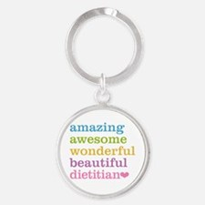 Funny Dietitian Round Keychain