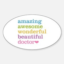 Cute Doctor Sticker (Oval)