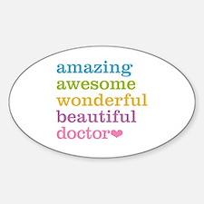 Cute Physician Sticker (Oval)