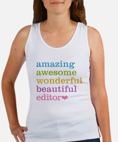 Cute Editor Women's Tank Top