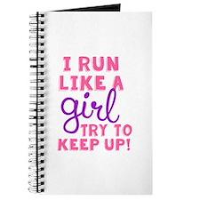 Cute Women running Journal