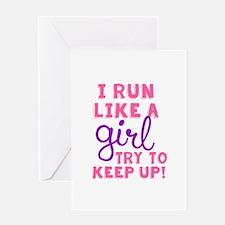 Run Like a Girl 2 Greeting Cards