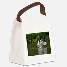 Unique Peace love swimming Canvas Lunch Bag