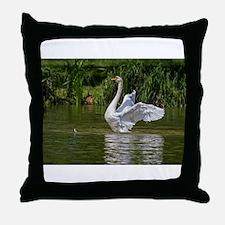Cute Peace love swimming Throw Pillow