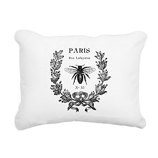 PARIS BEE Rectangular Canvas Pillow