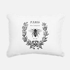 PARIS BEE Rectangular Canvas Pillow