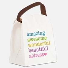 Cute Actress Canvas Lunch Bag