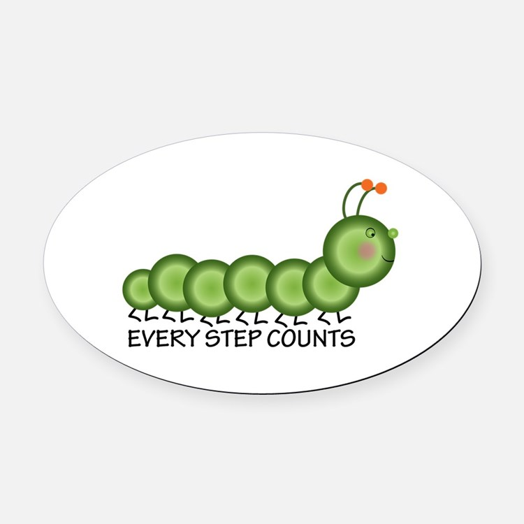 Every Step Counts Oval Car Magnet