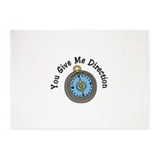 You Give Me Direction 5'x7'Area Rug